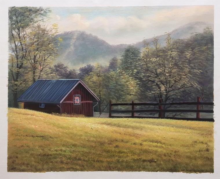 1043-23 16x20inch handmade oil painting