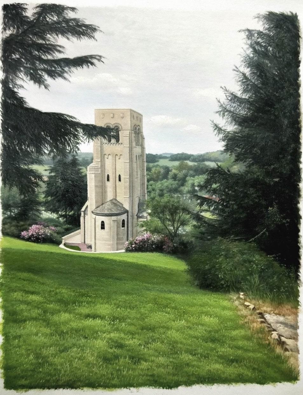 1174-travel-photo-custom-landscape-painting-castle-tower