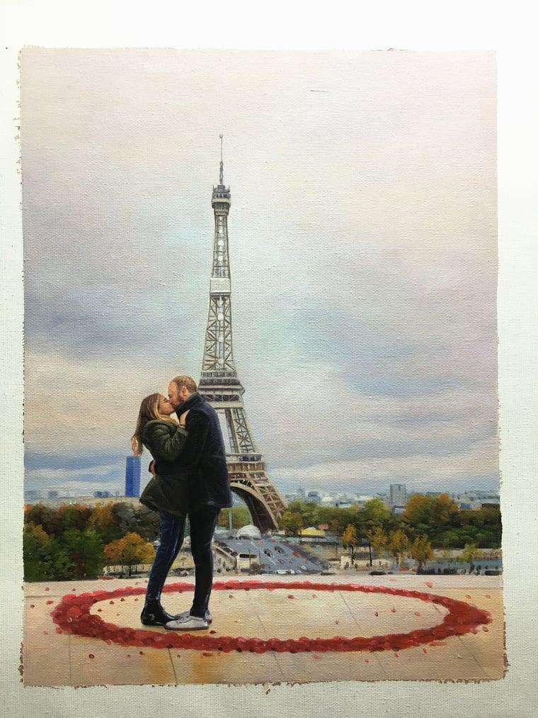 oil-painting-paris-engagement
