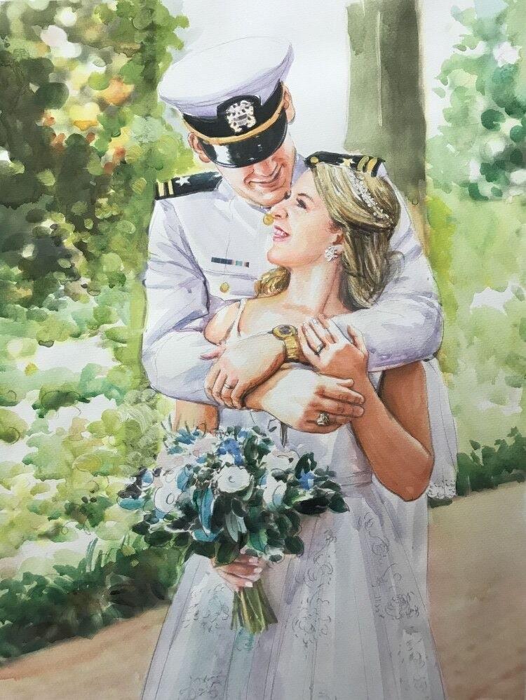 1482-summer-watercolor-wedding-couple-portrait-painting