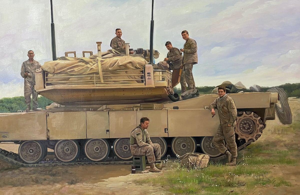 1578 final painting-military-tank-platoon-custom-oil-painting