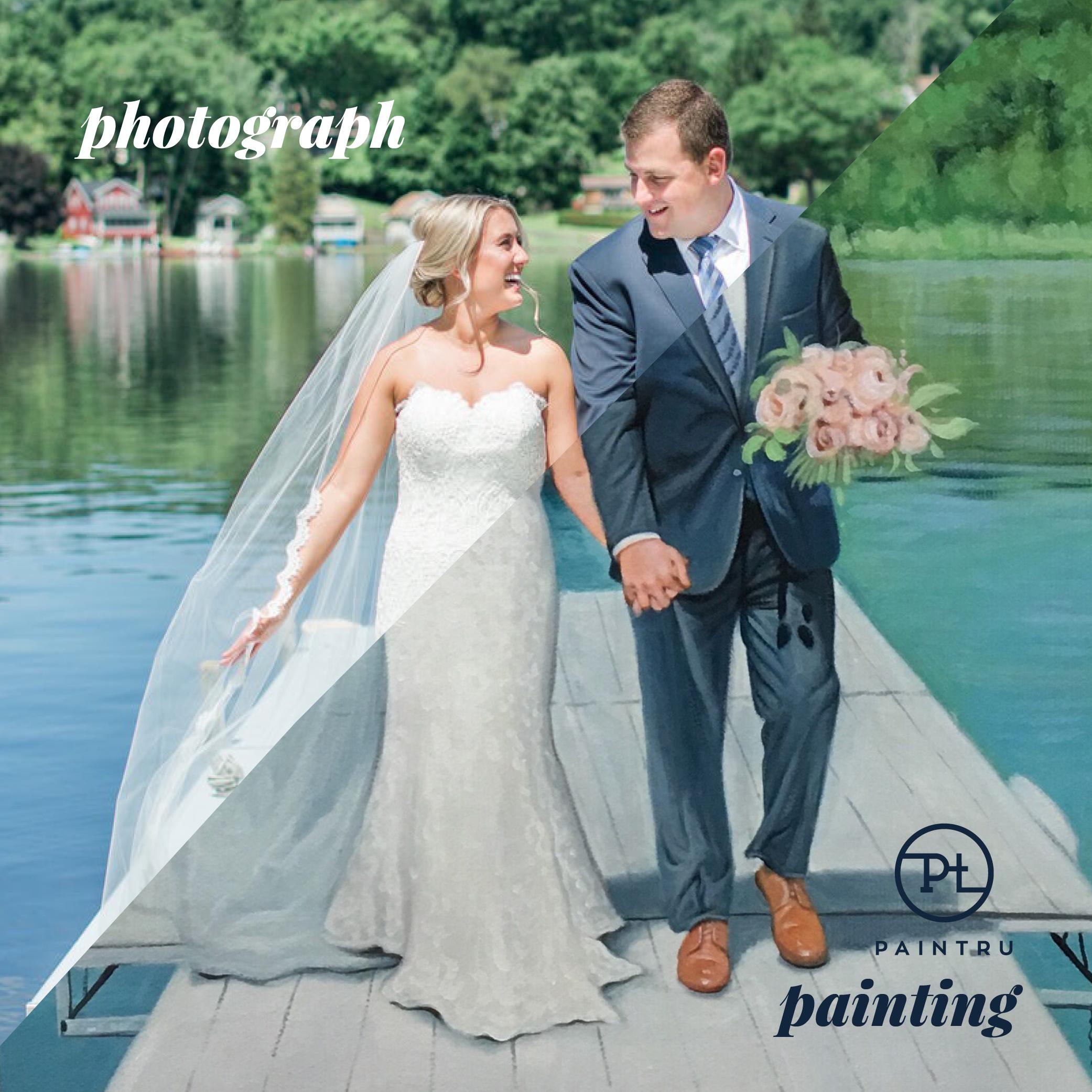 lake-wedding-photo-to-painting