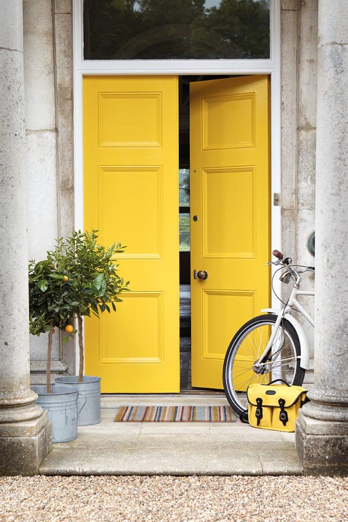 Front-door-pop-of-bright-color-refersh-summer