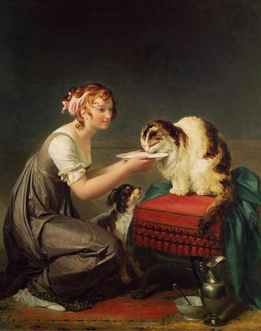 """Marguerite Gerard's """"The Cat's Lunch"""""""