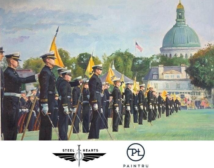 Steel Hearts x Paintru_USNA Commission-painting