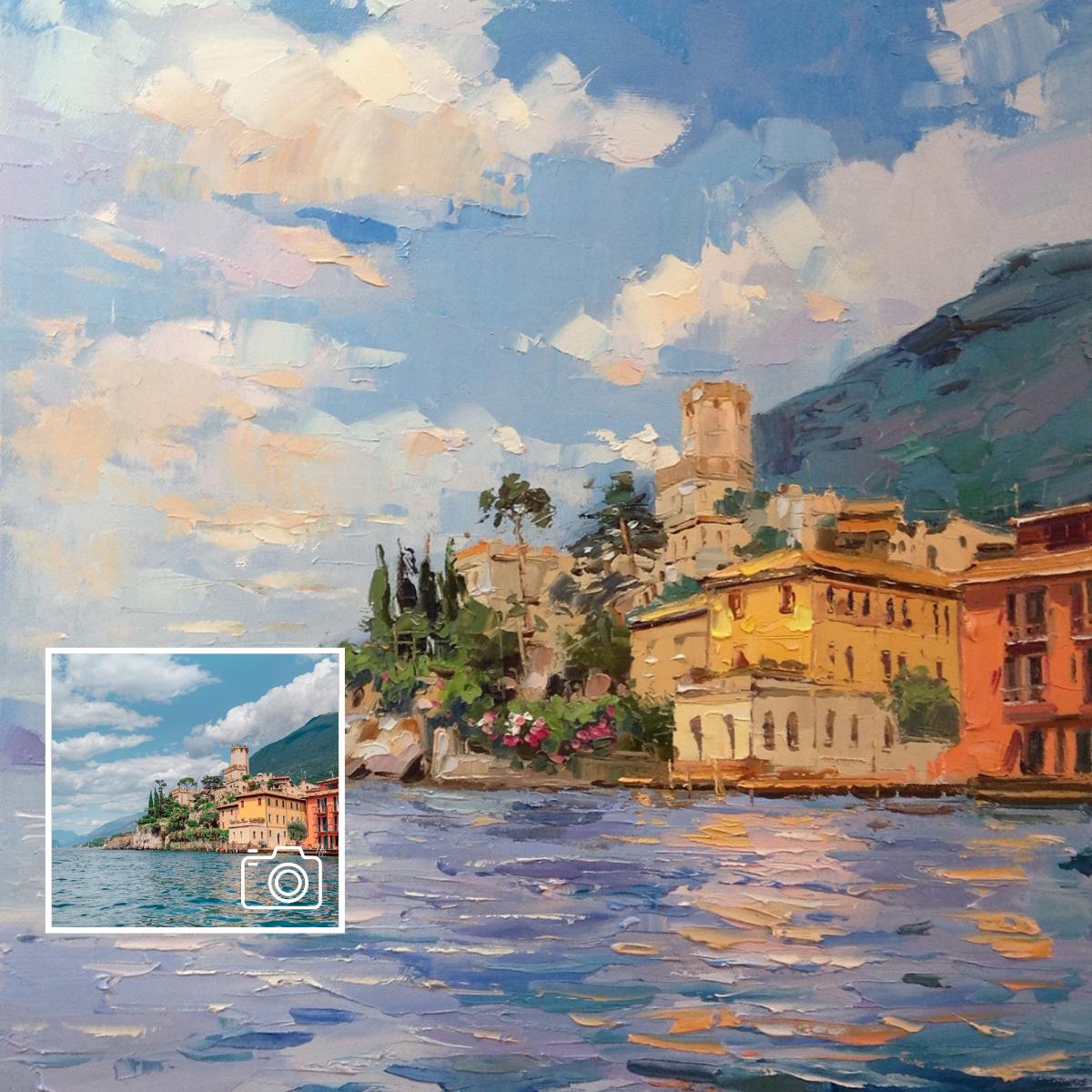 paintru-custom-artwork-commission-painterly-oil-lake-garda