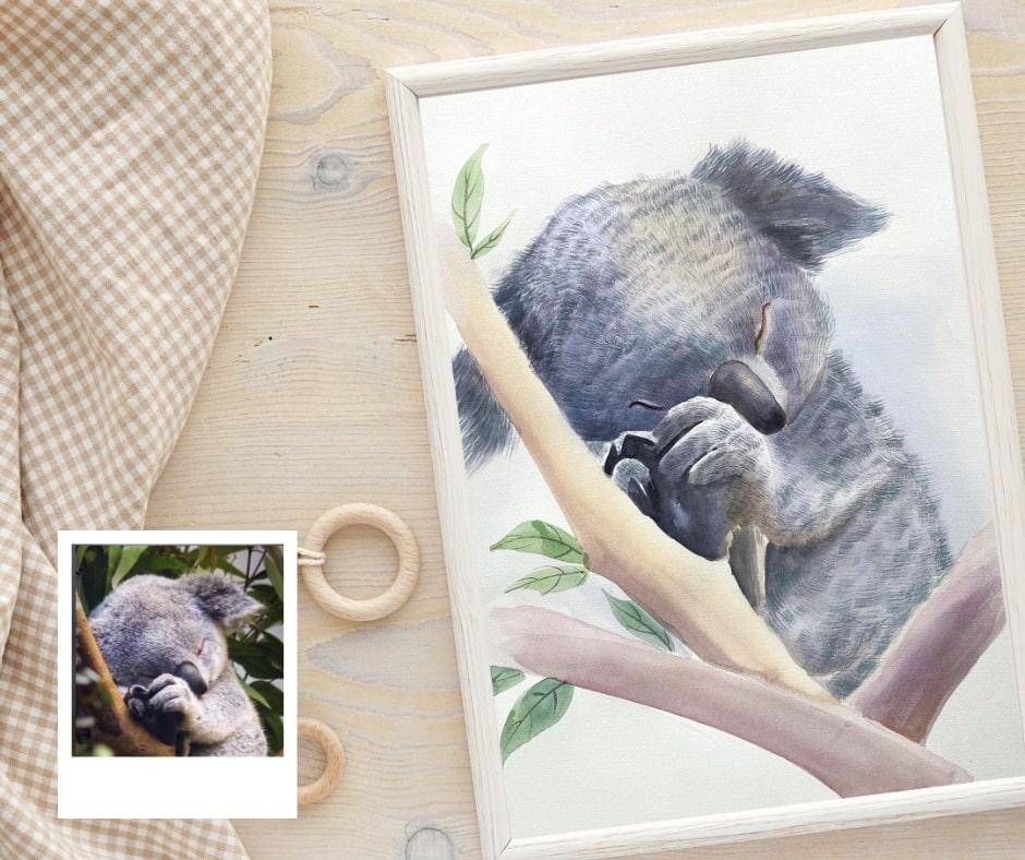 memorable-gift-nursery-custom-nursery-watercolor-painting-paintru-koala-min