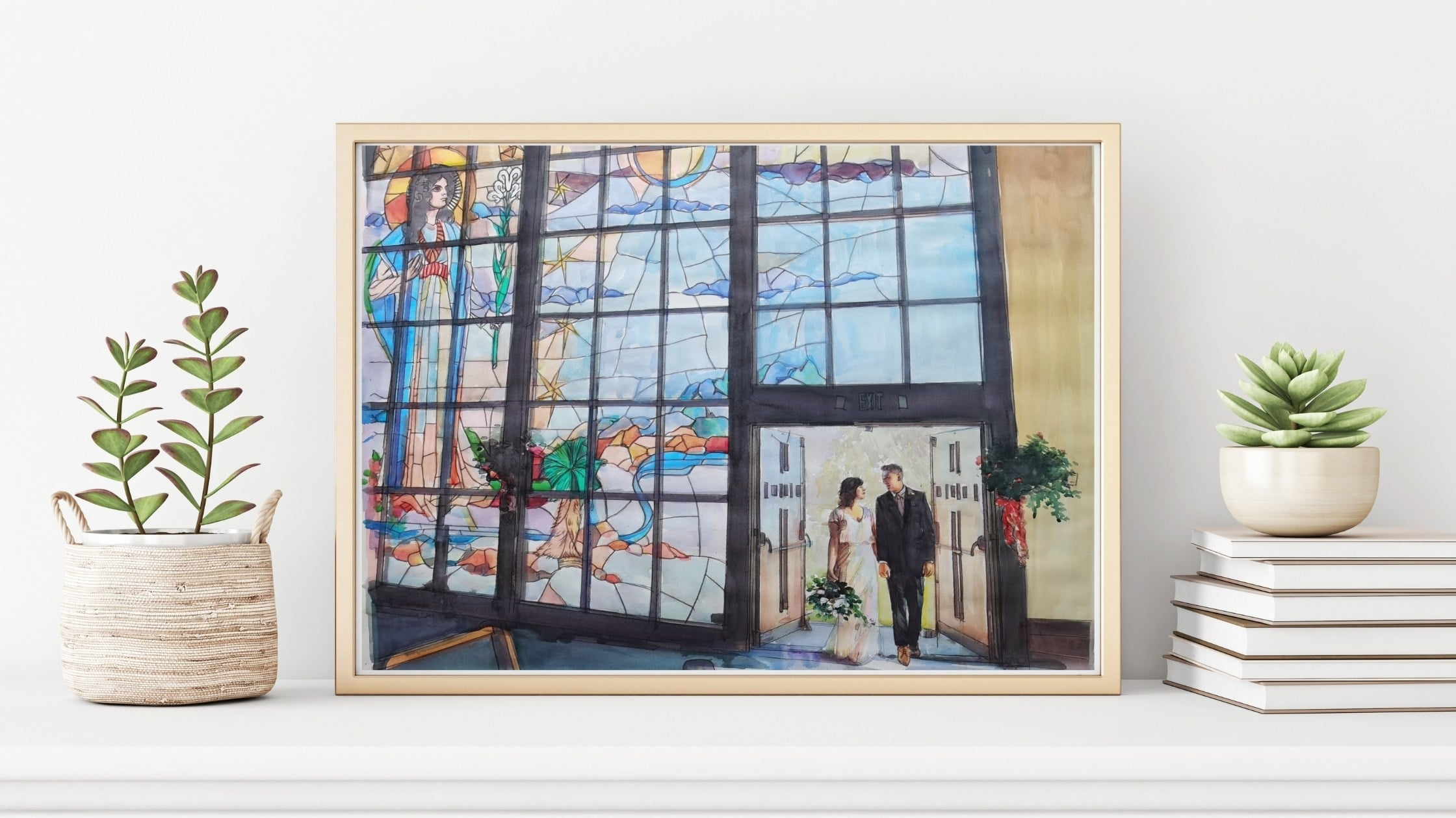 paintru-custom-watercolor-painting-wedding-stained-glass-framed