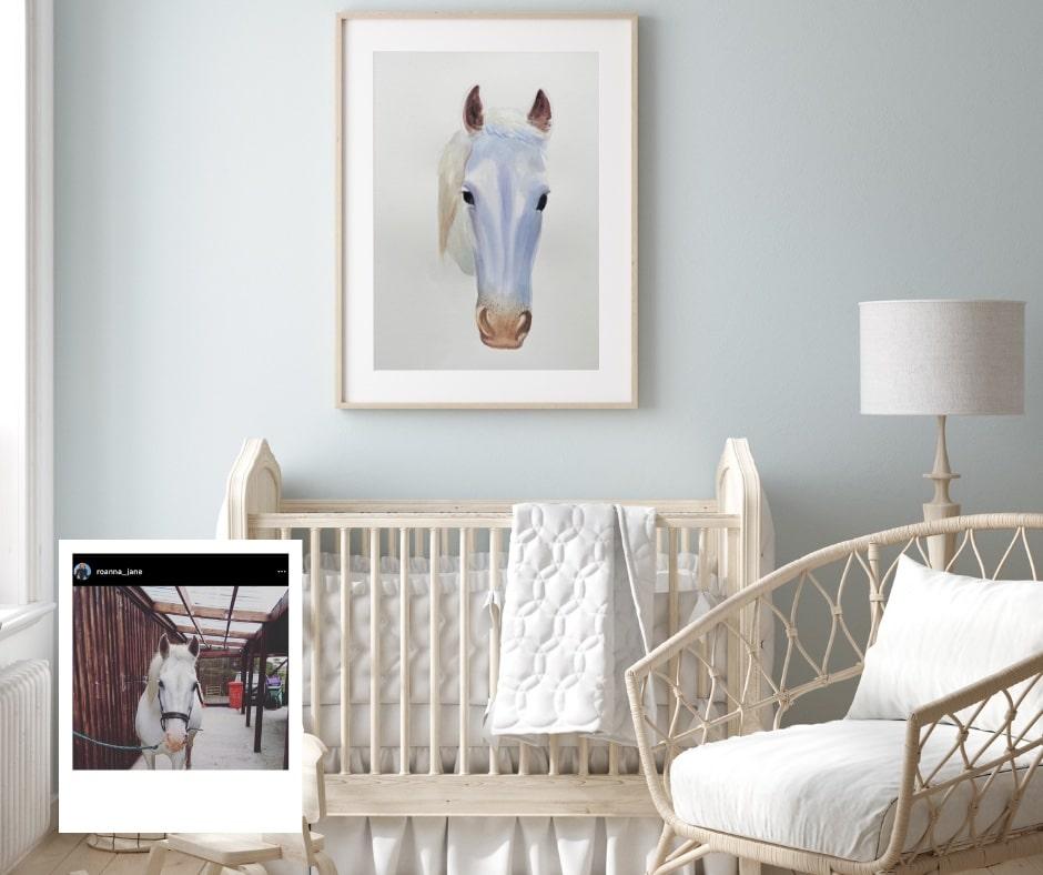 pony-custom-nursery-commission-watercolor-painting-paintru-min