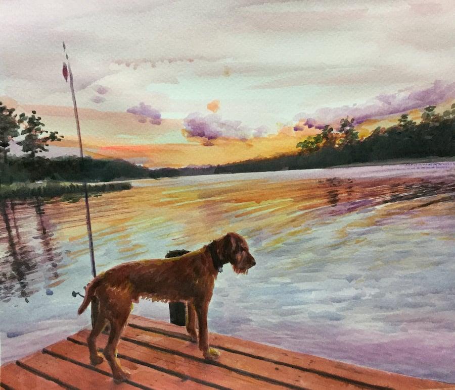 custtom-pet-portrait-landwscape-most-memorable-gift-watercolor
