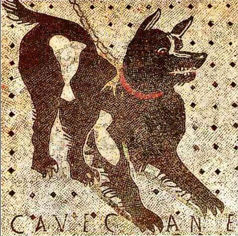 Mosaic of a Roman Citizen's Pooch